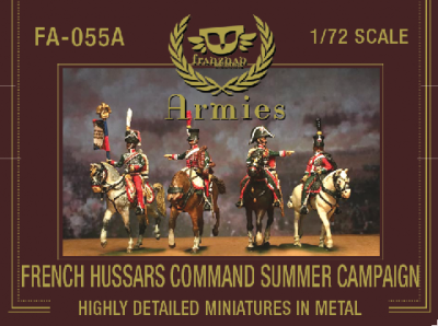 FA-055A French Hussars Command on march Summer Campaign Dress 1/72