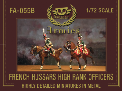 FA-055B French Hussars High Rank Officers 1/72