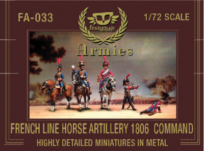 FA-033 - French Line Horse Artillery 1806 Command 1/72