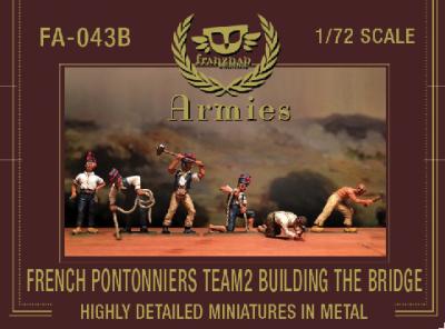FA-043B French Pontonniers Team 2 : Building the bridge 1/72