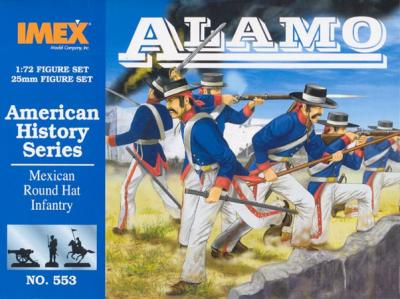 553 - Mexican Round Hat Infantry 1/72