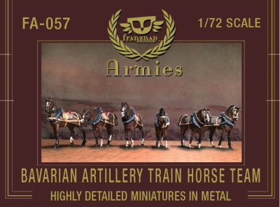 FA-057 Bavarian Artillery Train Horse Team 1/72