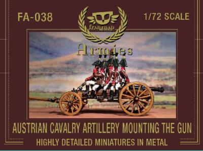 FA-038 - Austrian Cavalry Artillery Crew Mounting The Gun 1/72