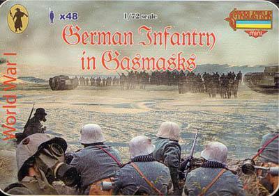 M060 - WW1 German Infantry in Gas Masks 1/72