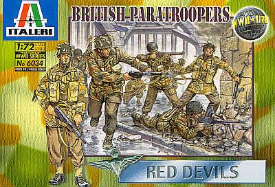 6034 - WW2 British Paratroopers 1/72