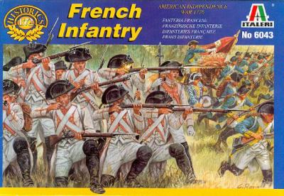 6043 - American War of Independance French Infantry 1/72