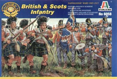 6058 - Napoleonic British and Scots Infantry 1/72