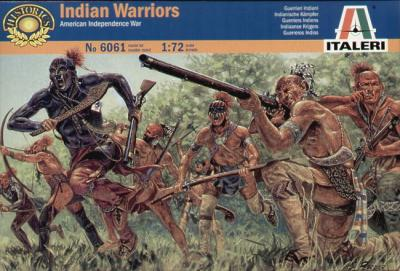 6061 - American War of Independance Indian Warriors 1/72