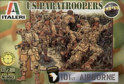 6063 - WW2 US Paratroopers 1/72