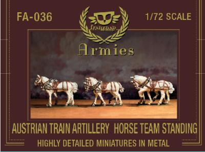 FA-036 Austrian Artillery Train Horse Team Standing 1/72