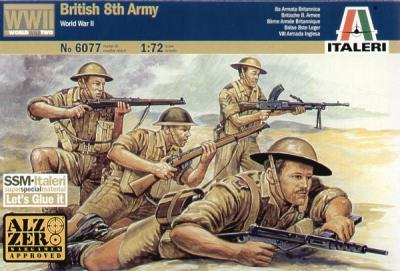 6077 - British 8th Army 1/72