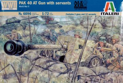 6096 - PAK 40 AT Gun with Servants 1/72