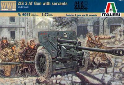 6097 - ZIS 3 AT Gun with servants 1/72