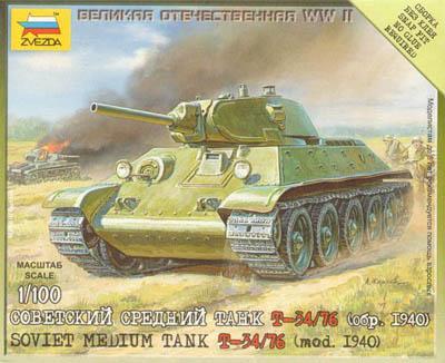 6101 - Soviet Medium Tank T-34/76 (1940 model) 1/100