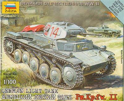 6102 - German Light Tank Pz.Kpfw.II 1/100