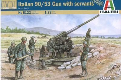 6122 - Italian 90/53 Gun with Crew 1/72