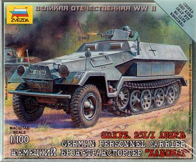 6127 - German Half-Track Personnel Carrier SdKfz 251 1/100