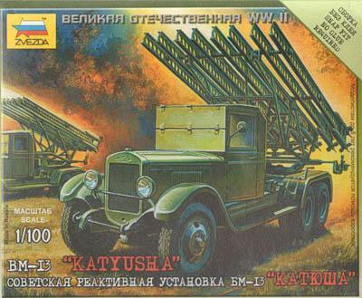 6128 - Soviet BM-13 'Katyisha' Rocket Launcher 1/100