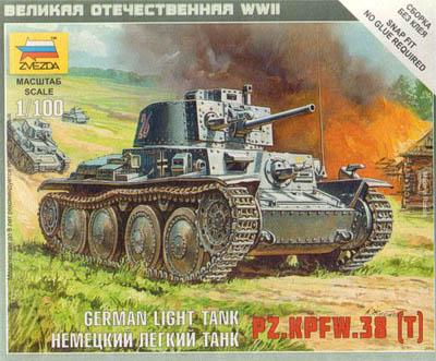 6130 - German Light Tank PZ.KPFW.38 (T) 1/100
