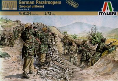 6134 - WW2 German Paratroops (Tropical Uniform) 1/72