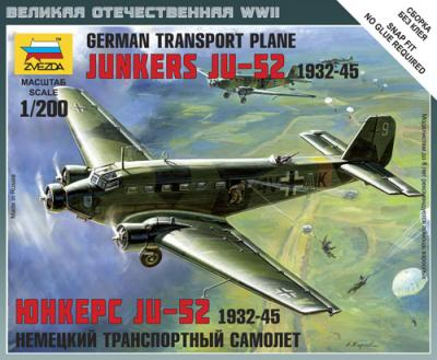 6139 - German Transport Plane Junkers JU-52 1/200