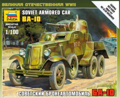 6149 - Soviet Armoured Car BA-10 1/100