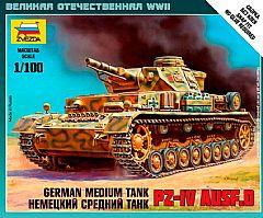 6151 - German Medium Tank PZ-IV AUSF.D 1/100