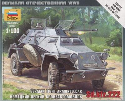6157 - German Light Armoured Car SD.KFZ.222 1/100