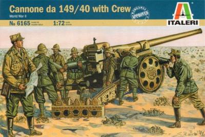 6165 - Cannone da 149/40 with Crew 1/72