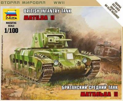 6171 - British Matilda II Tank 1/100
