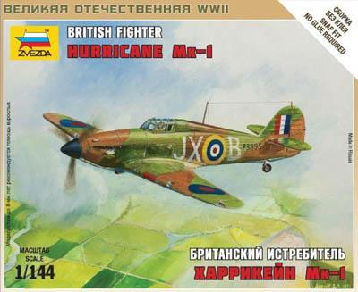 6173 - British Hurricane MK1 Fighter Plane 1/144