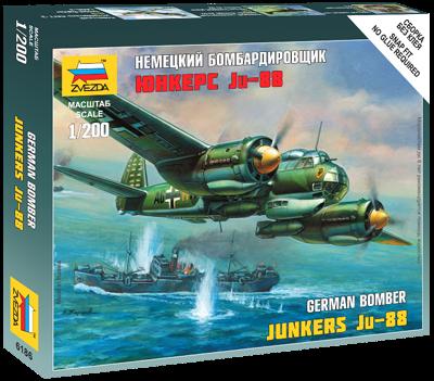 6186 - German Bomber Junkers JU-88 1/200