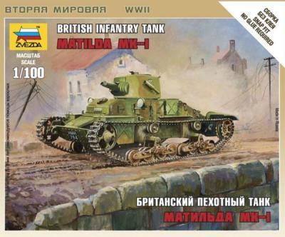 6191 - British Matilda MKI Tank 1/100