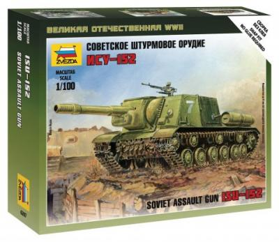 6207 - Russian ISU-152 Self Propelled Gun 1/100