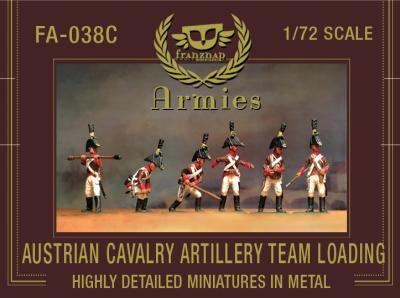 FA-038C Austrian Cavalry Artillery Crew Loading 1/72