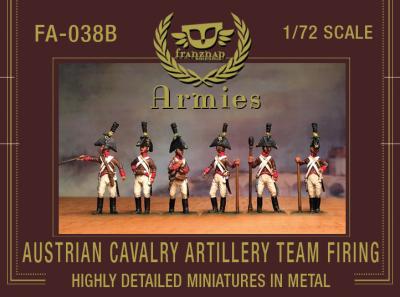FA-038B Austrian Cavalry Artillery Crew Firing 1/72
