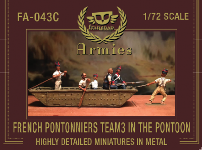 FA-043C French Pontonniers Team 3 : In the the Pontoon 1/72