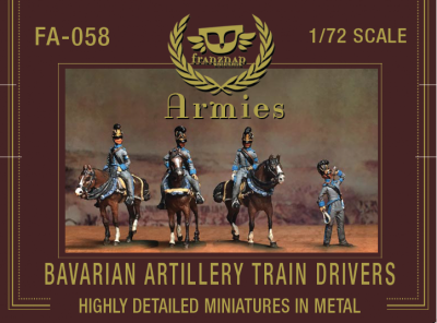 FA-058 Bavarian Artillery Train Drivers 1/72