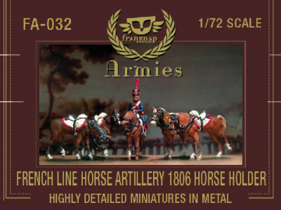 FA-032 - French Line Horse Artillery 1806 Horse Holder 1/72
