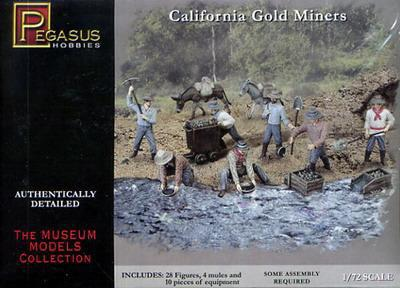 7050 - California Gold Miners 1/72