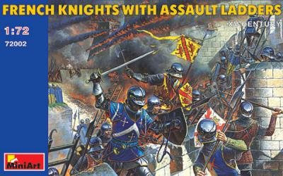 72002 - French Knights with Assault Ladders 1/72