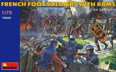 72003 - French Foot Soldiers with Rams 1/72