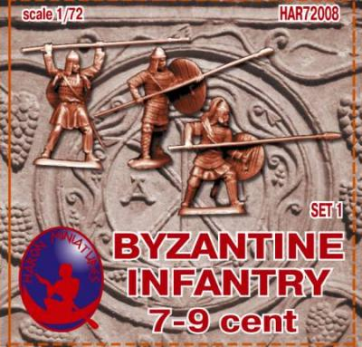 72008R - Byzantine Infantry 7-9th Century Set 1 1/72