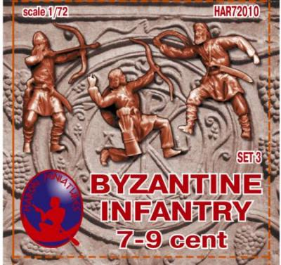 72010R - Byzantine Infantry 7-9th Century Set 3 1/72