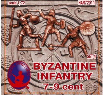 72011R - Byzantine Infantry 7-9th Century Set 3 1/72