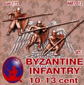 72012R - Byzantine Infantry 10th-13th Century Set 1 1/72