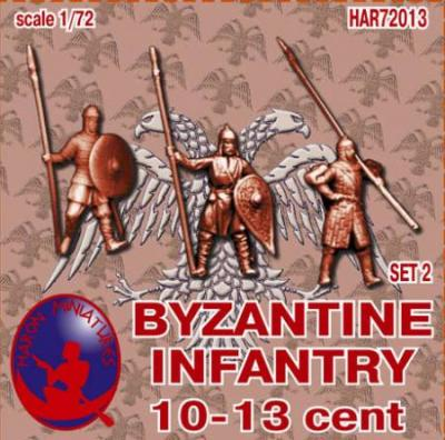 72013R - Byzantine Infantry 10th-13th Century Set 2 1/72