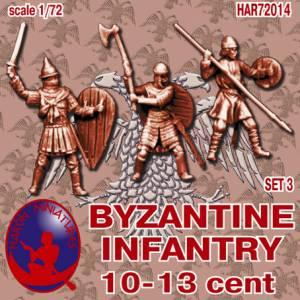72014R - Byzantine Infantry 10th-13th Century Set 3 1/72