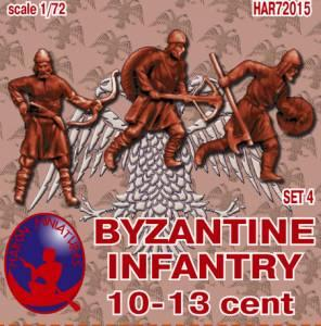 72015R - Byzantine Infantry 10th-13th Century Set 4 1/72