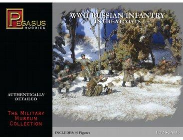 7271 - WWII Russian Infantry in Greatcoats 1/72